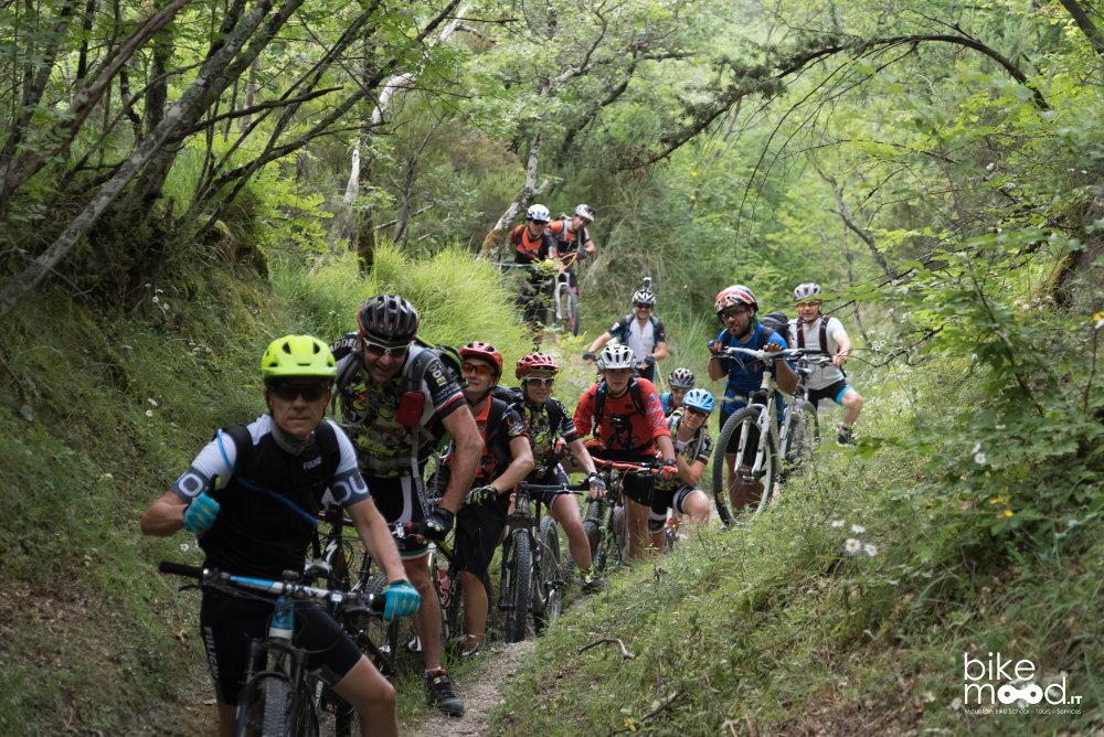 mountain bike sulla Linea Gotica