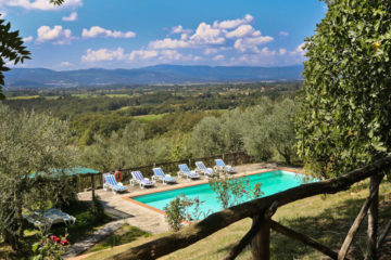country villa with pool near Florence