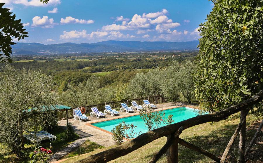 villa mit privaten pool florenz
